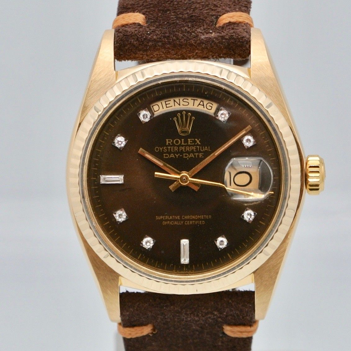 Rolex Day-Date 36 yellow gold diamond dial