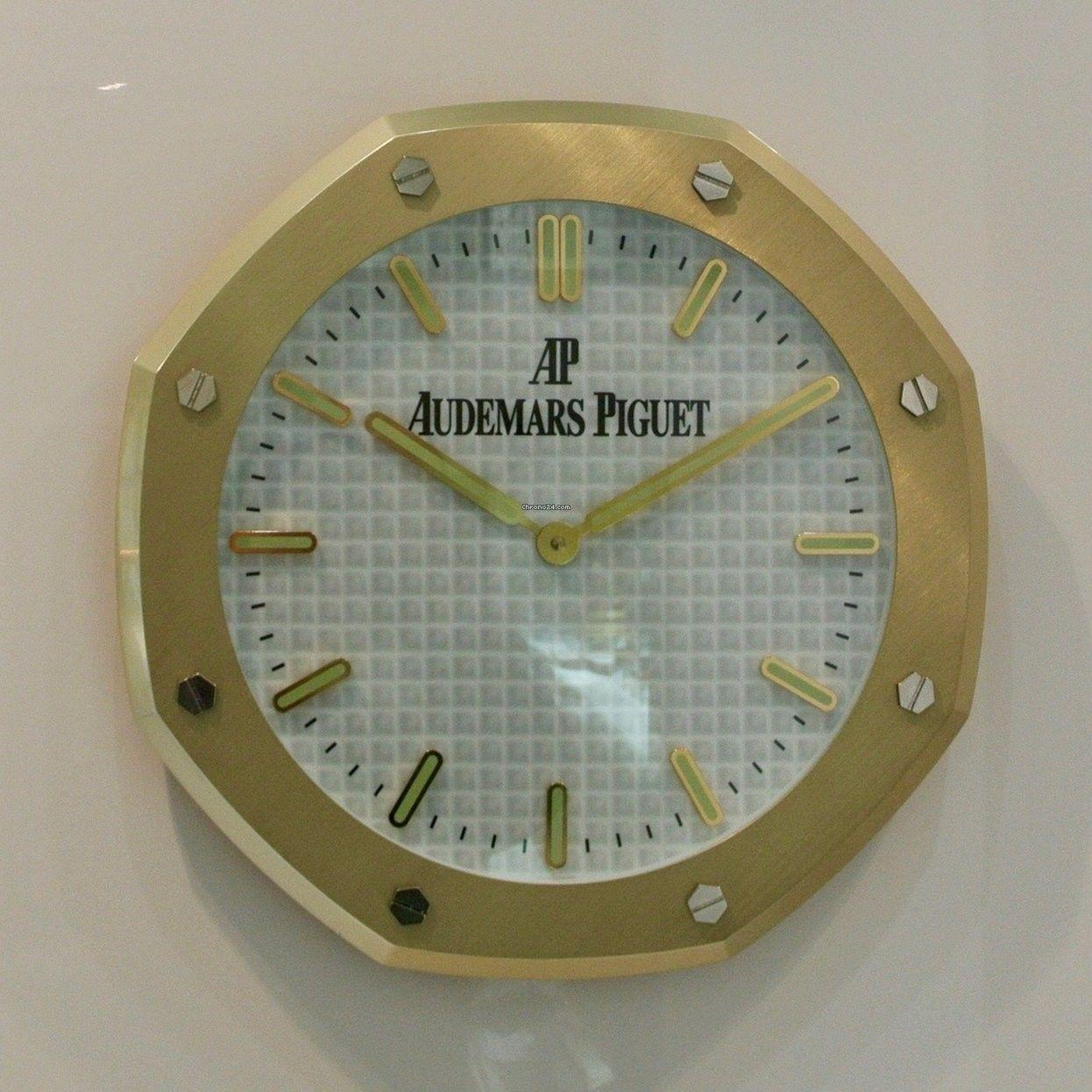 Audemars Piguet Original Wall Clock Big Model Plated Yellow Gold