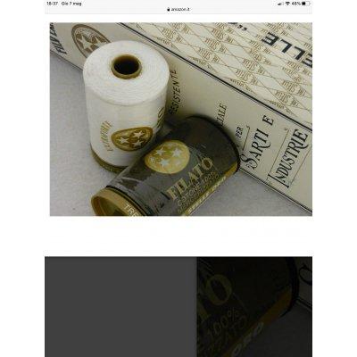 Spoletta di filato cotone 100% Trestelle colore nero cod. 001
