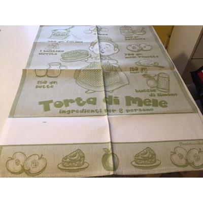 asciugapiatti da ricamo puro cotone mis.58 cm per 82 cm