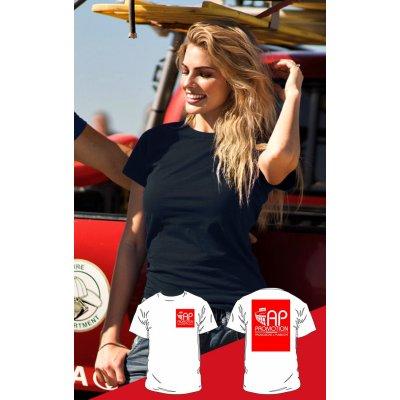 T-shirt Nera - 1 Stampa Piccola + 1 Grande