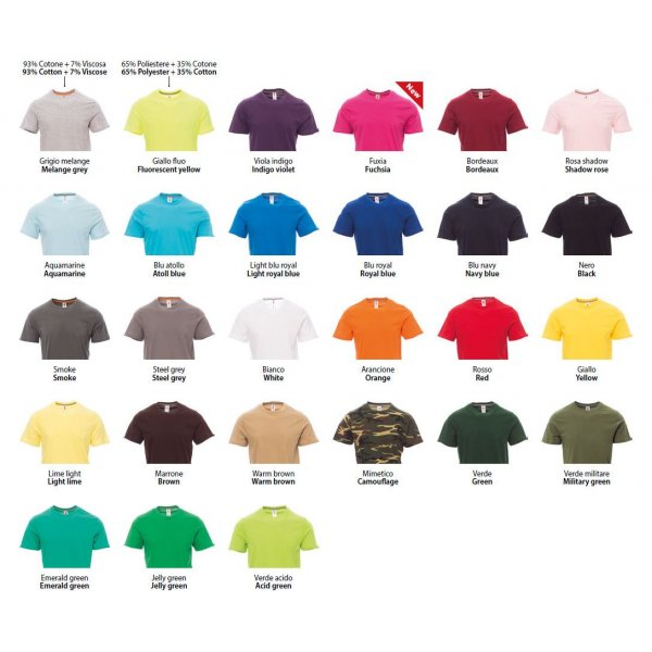 T-shirt Colorata - 1 Stampa Piccola