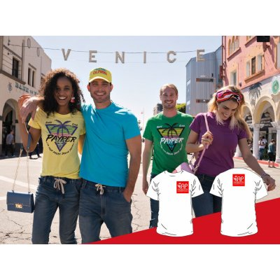 T-shirt Colorata - 2 Stampe Piccole