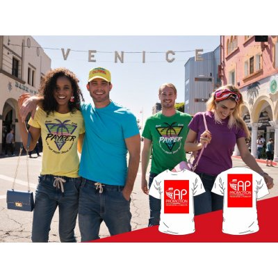 T-shirt Colorata - 2 Stampe Grandi