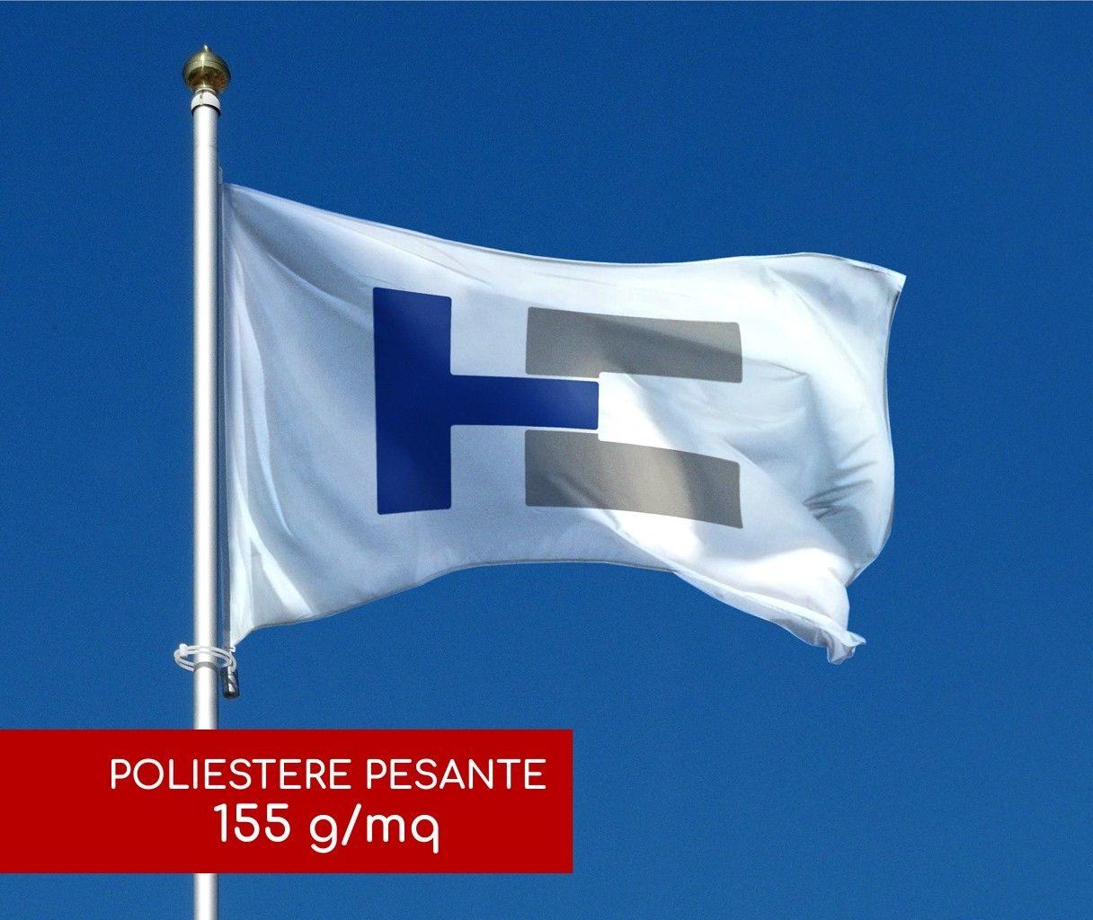 Bandiere Personalizzate Orizzontali - Poliestere Pesante 155 g/mq