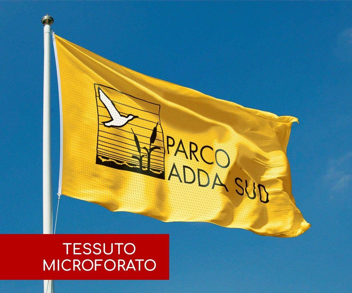 Bandiere Personalizzate Orizzontali - Tessuto Microforato 110 g/mq