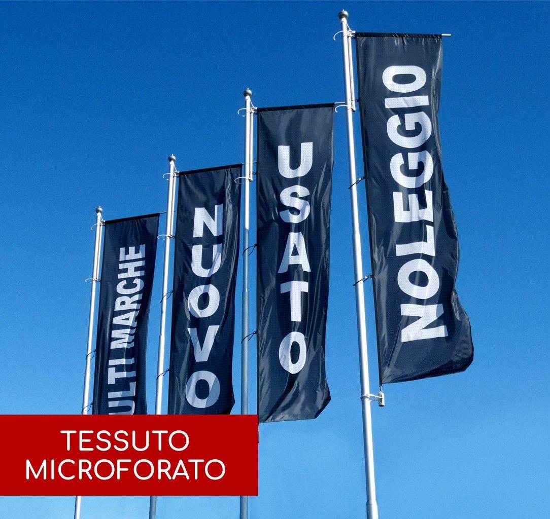 Bandiere Personalizzate Verticali - Microforato 110 g/mq