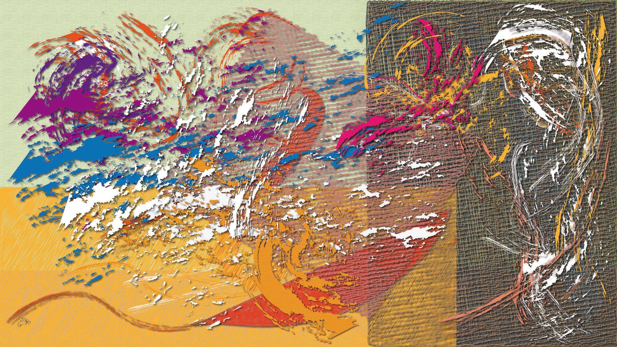 DIGITAL PAINTING CAMILLO BUCCELLA ' A GIPSY IDEA '  dimensioni L 144 x H 81 cm.