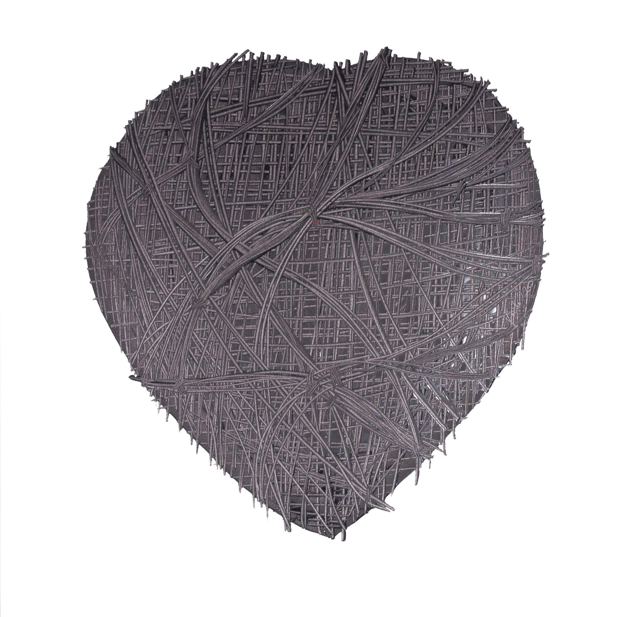 OLIO SU TELA ERIKA MARCHI ' LOVE IS IN THE AIR '  dimensioni L 100 x H 100 cm.