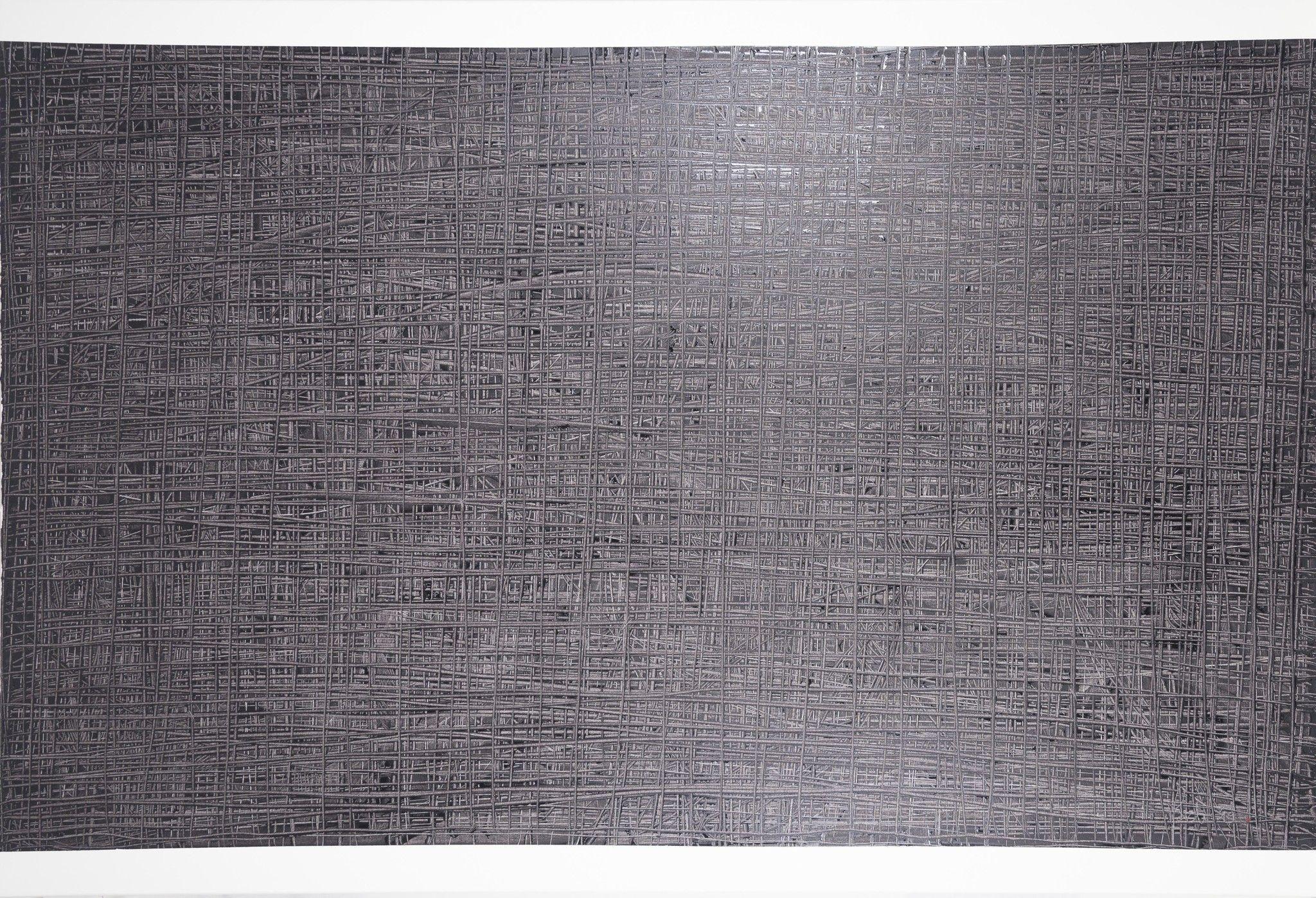 OLIO SU TELA ERIKA MARCHI ' THE GREAT GIG IN THE SKY '  dimensioni L 150 x H 100 cm.