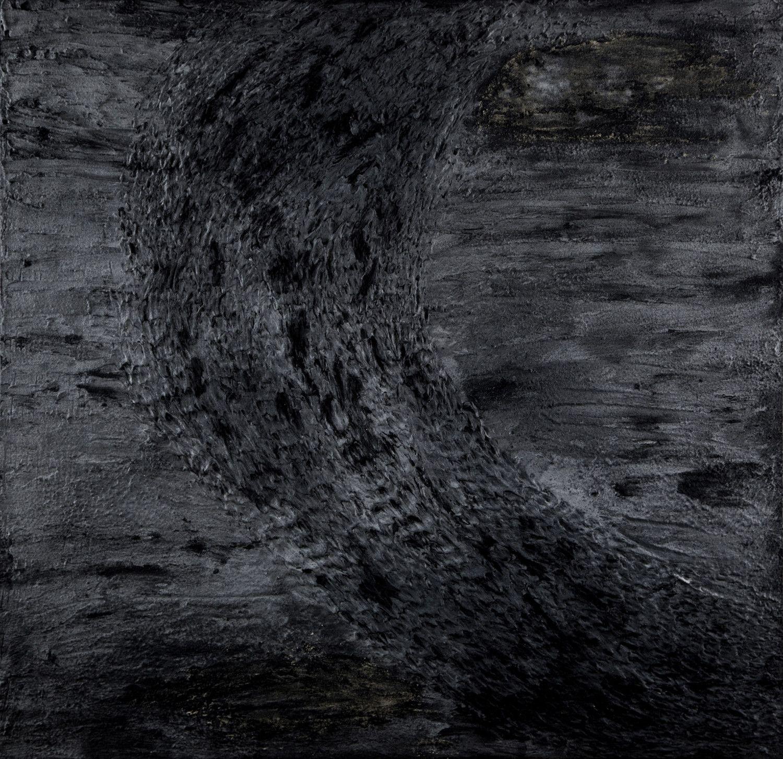 MIXED MEDIA  DANIELA FORCELLA  ' T. A. # 09 '  dimensioni  L 100 x  H 100 cm.