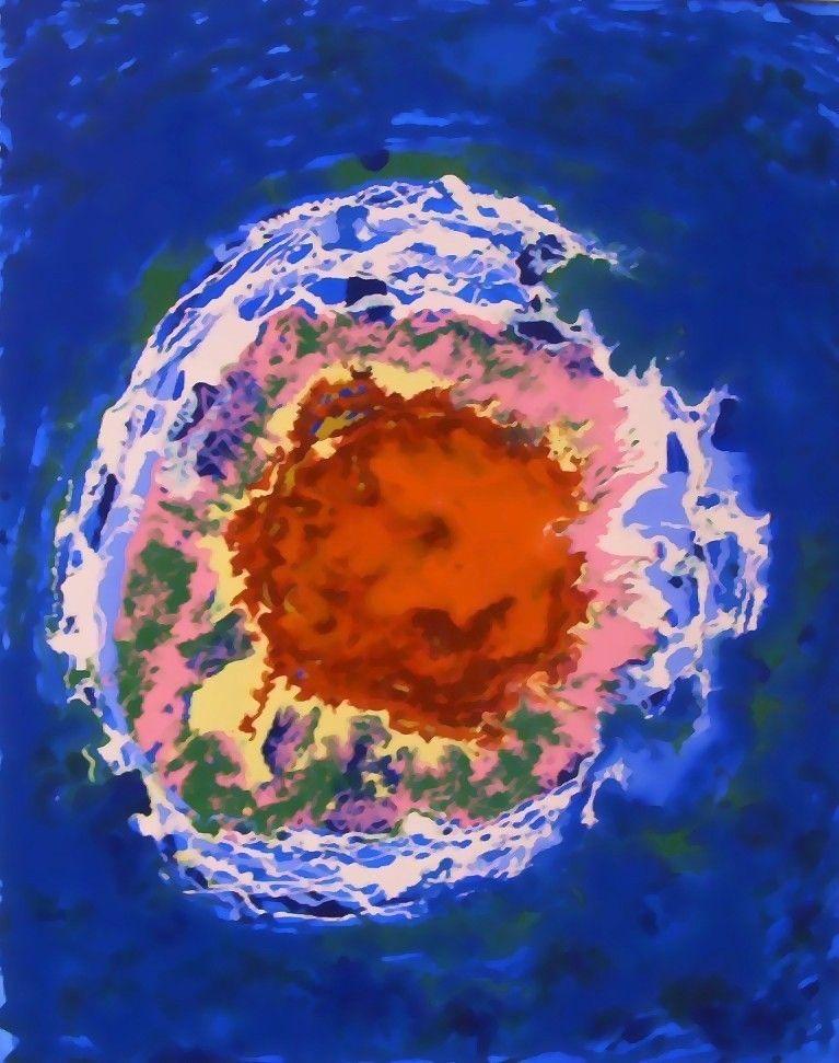MIXED MEDIA NICOLA MOREA ' L' ISOLA CHE NON C'E' '  dimensioni L 40 x H 50 cm.