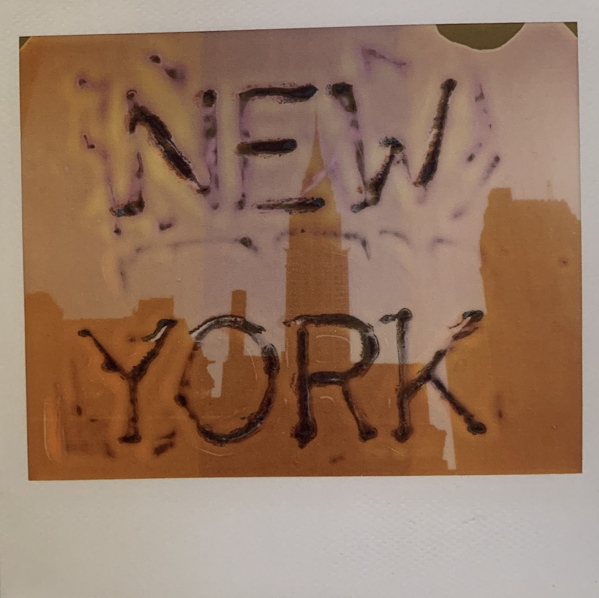 VINTAGE POLAROID MAURIZIO GALIMBERTI 'NEW YORK' dimensioni cm. 34x34