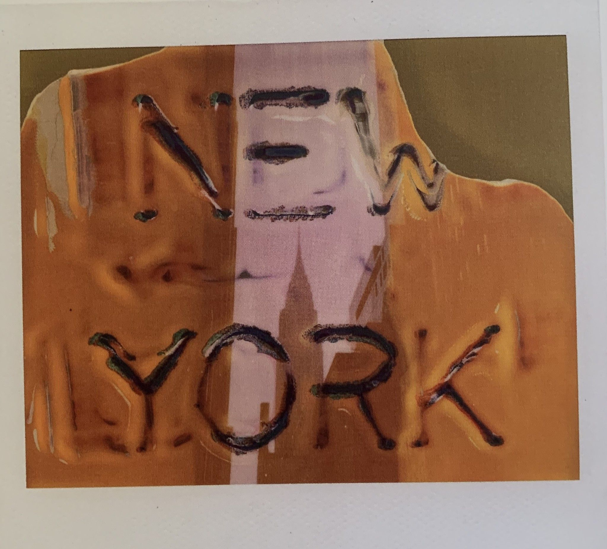 VINTAGE POLAROID MAURIZIO GALIMBERTI  ' NEW YORK FUJI 02 '  dimensioni 34 x 34 cm.