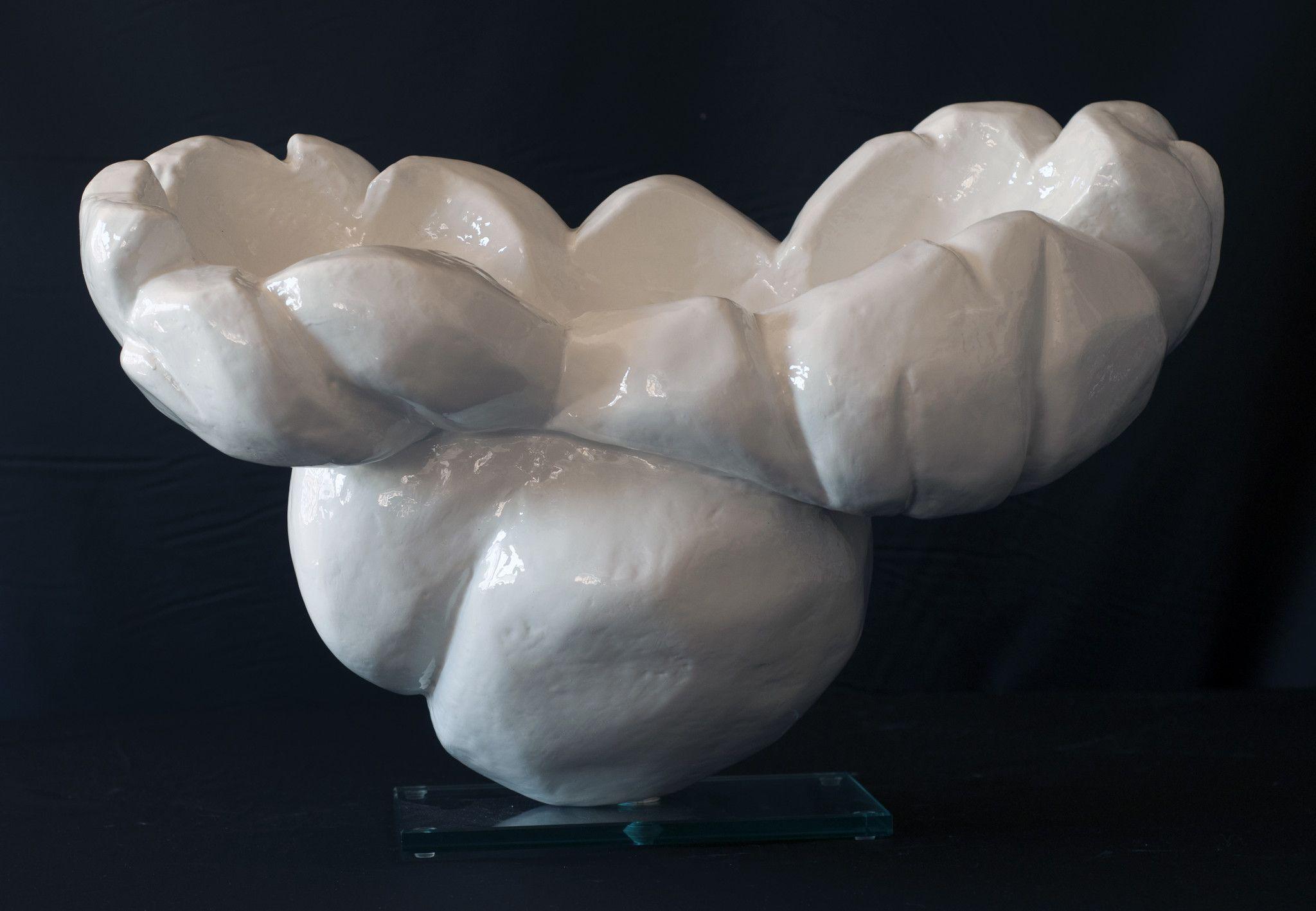 COMPLEMENTO D'ARREDO  CLAUDIO PERINA ' POP CORN # 1 '  dimensioni  L 58,5 x H 35,5 x P 26  cm.
