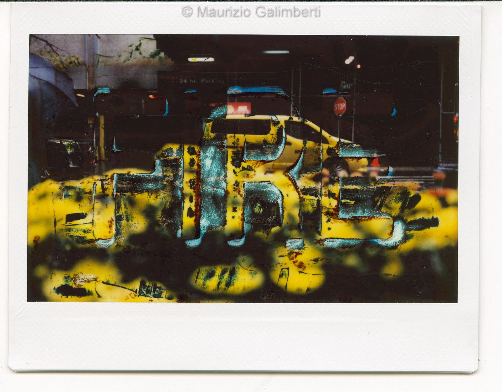 "VINTAGE POLAROID MAURIZIO GALIMBERTI ""FUJI NY 013"" dimensioni cm. 32X34"