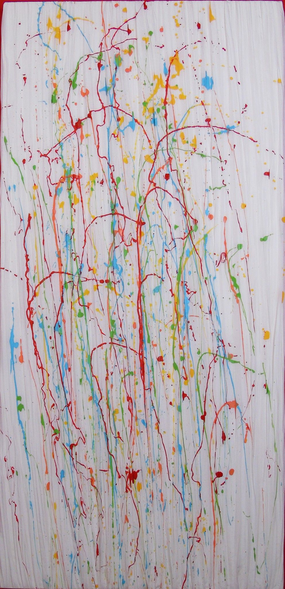 MIXED MEDIA  DARIO DABBENI ' OPERA Nr. 16 '  dimensioni L 60 x H 125 cm.