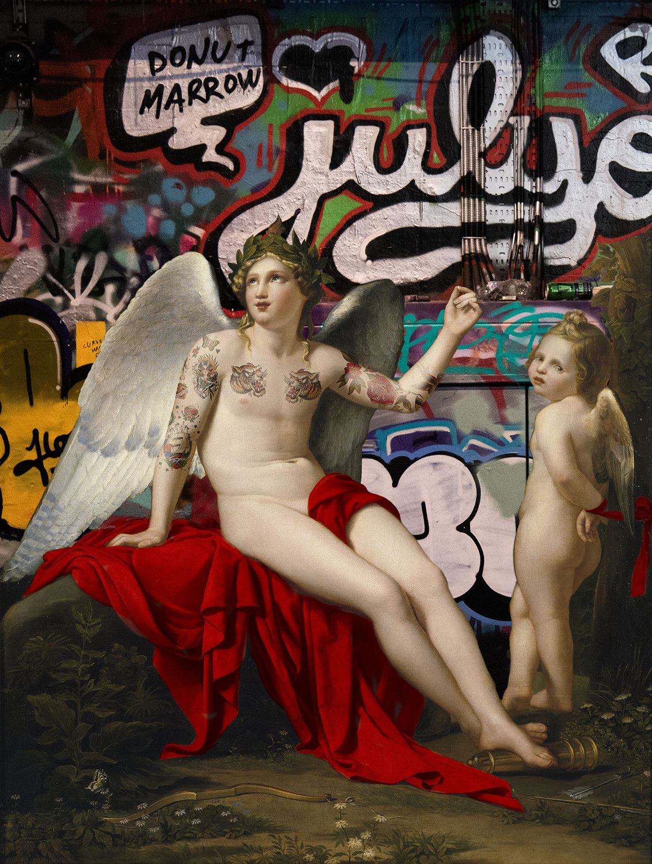 "FOTOGRAFIA DIGITALE SU TELA - ARTISTA SLASKY - TITOLO ""JULYE""   cm. L 80 x H 100"