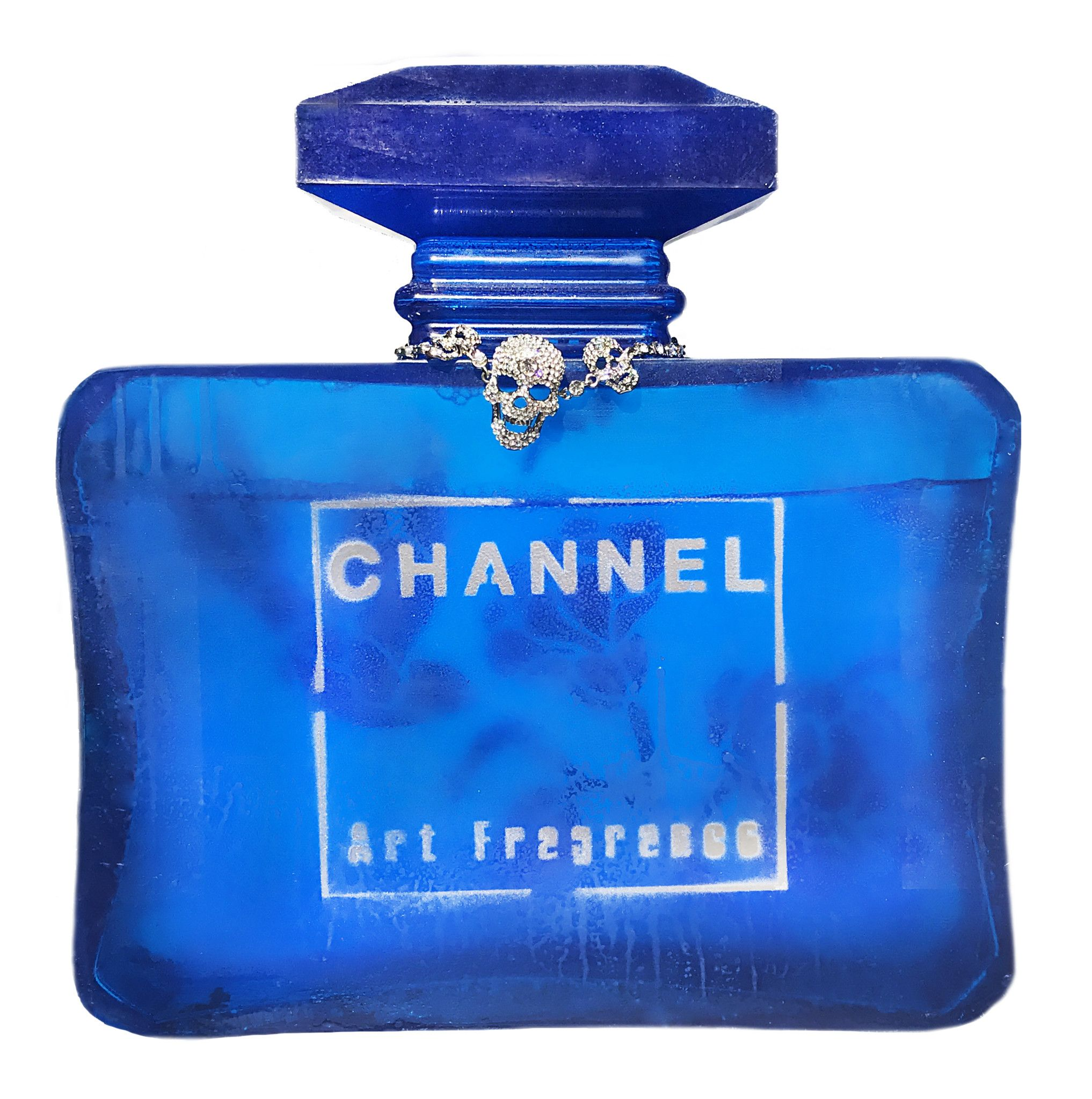"3D PERFUME  LUDMILLA RADCHENKO  "" CHANNEL ART FRAGRANCE N° 3 ""  dImensioni  L 30 x H 30 x P 7  cm."