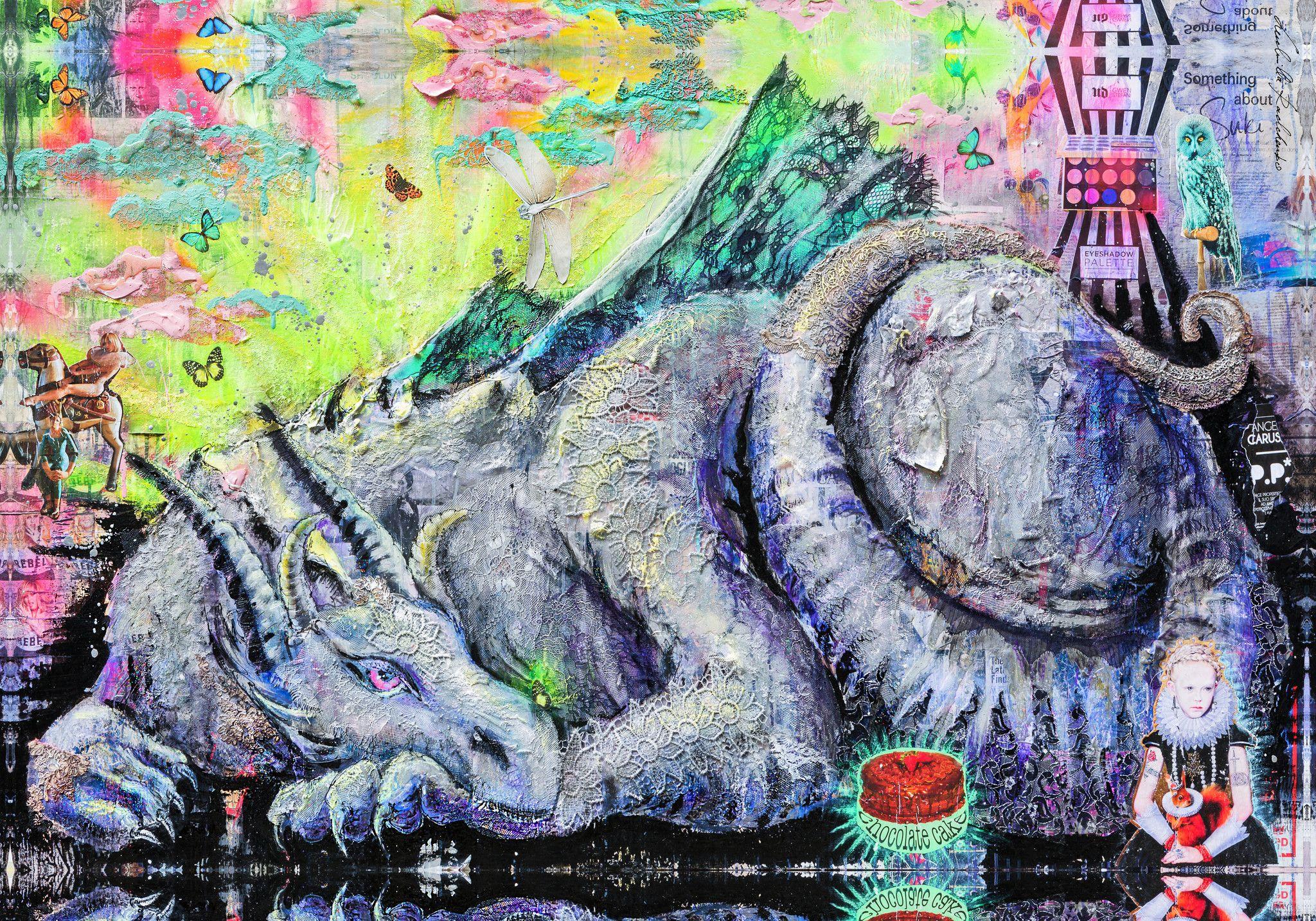 """PREGIATO FOULARD LUDMILLA RADCHENKO """" QUITE AWAKE """"  dimensioni L 140 x H 200c cm."""