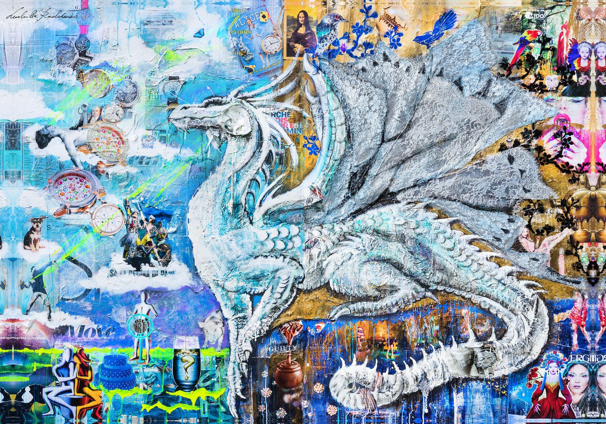 """PREGIATO FOULARD LUDMILLA RADCHENKO """" CONTEMPLATION """"  dimensioni L 140 x H 200 cm."""