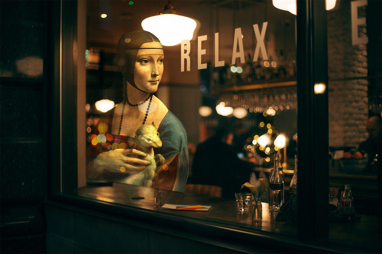 """FOTOGRAFIA DIGITALE SU TELA - ARTISTA SLASKY - TITOLO """" RELAX """" cm. L 100 x H 70"""
