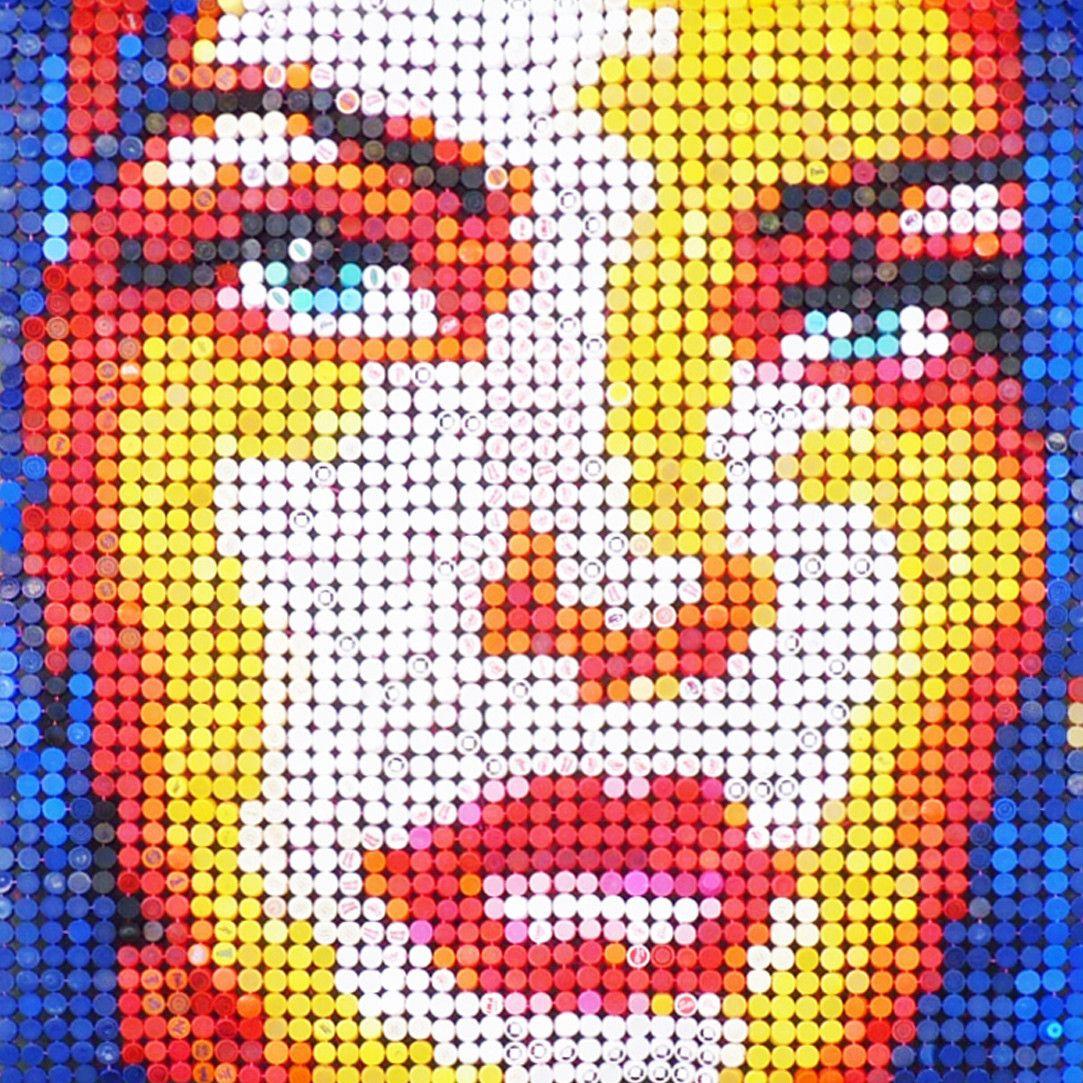PROMOZIONE #artistadelmese MIXED MEDIA JORGE CASTRO GOMEZ ' DANA 6 '  dimensioni L 140 x H 140 cm.