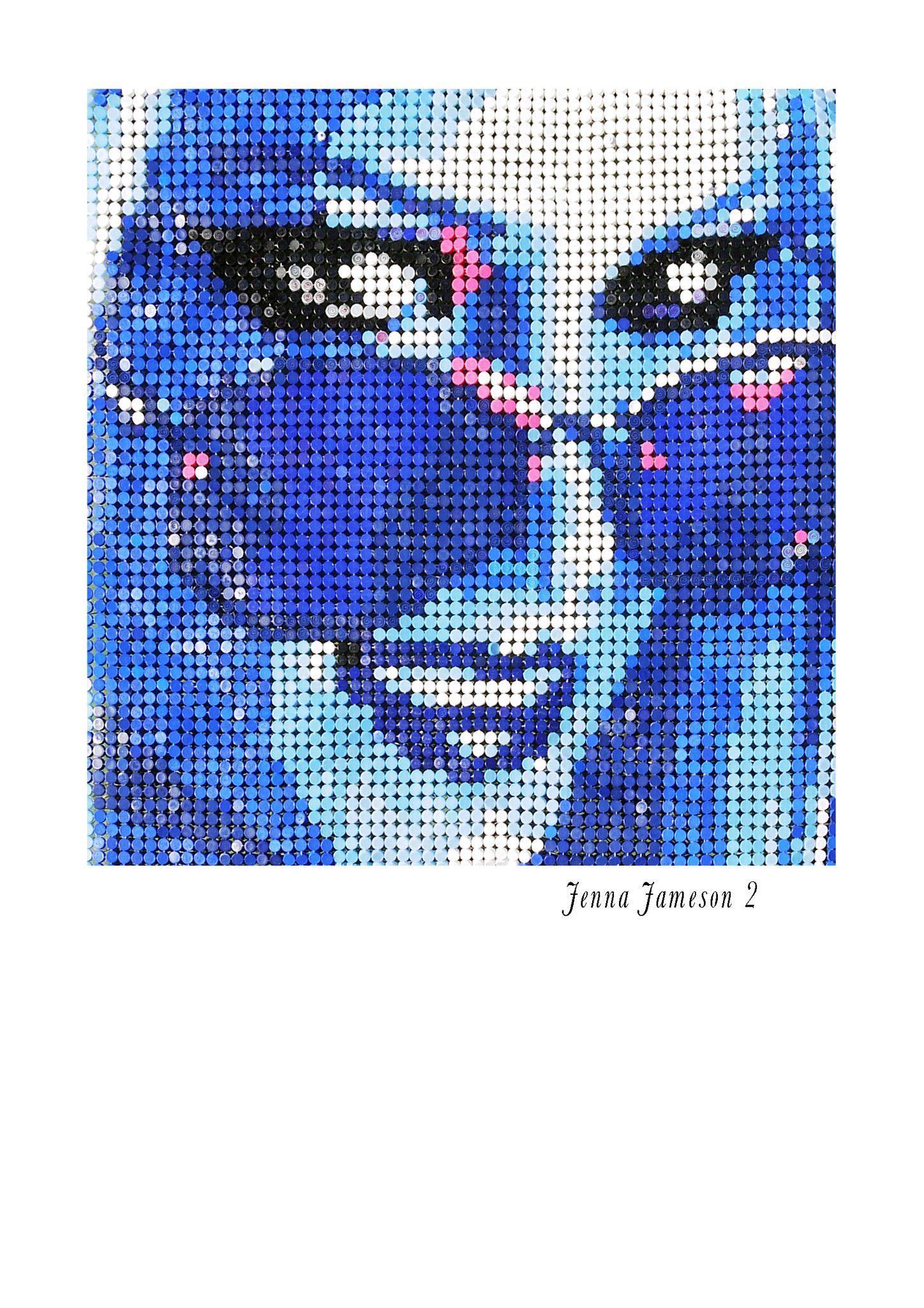 "MIXED MEDIA JORGE CASTRO GOMEZ "" JENNA JAMESON 2 ""  dimensioni L 160 x H 160 cm."