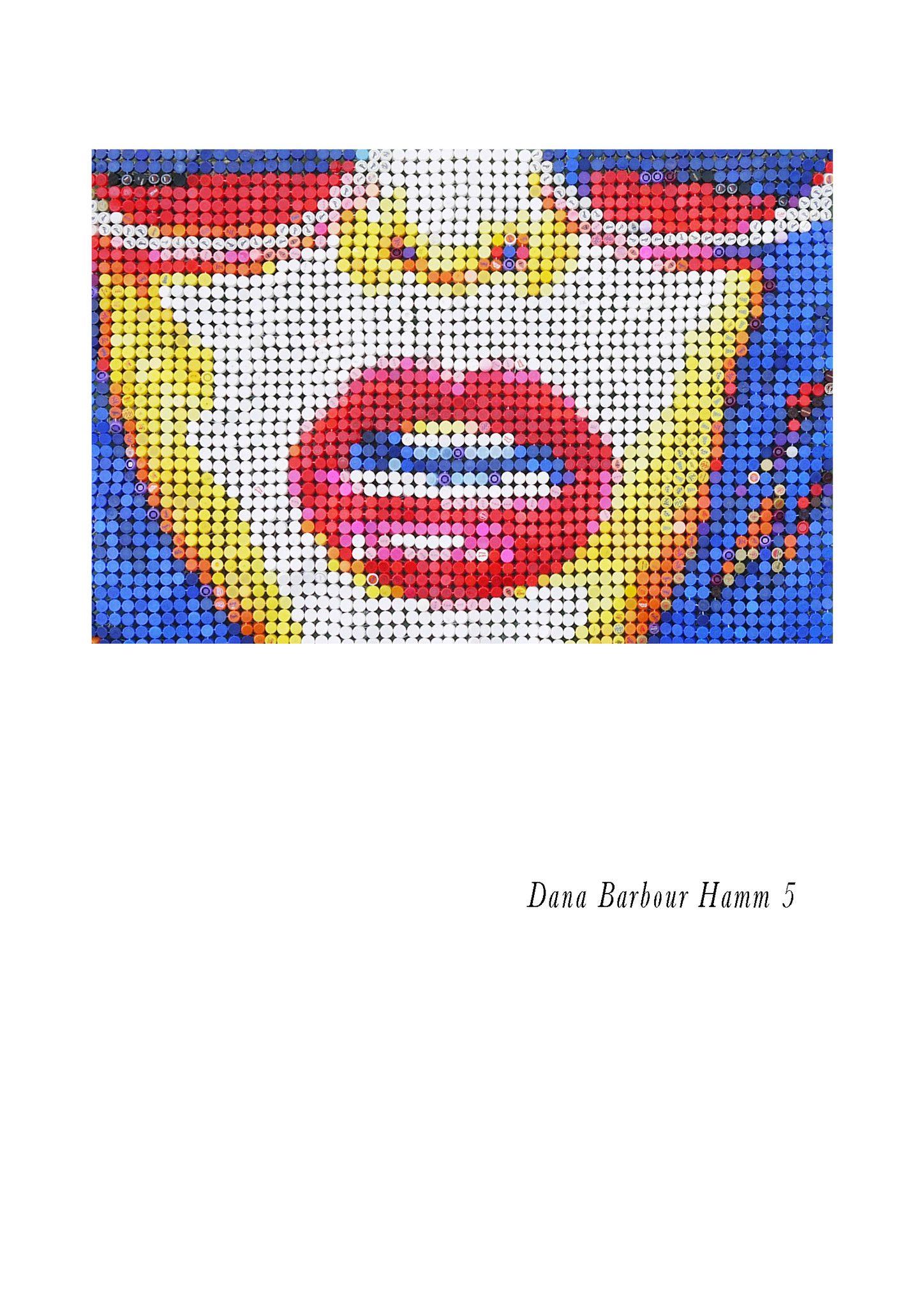 "MIXED MEDIA JORGE CASTRO GOMEZ  "" DANA 5 ""  dimensioni L 180 x H 120 cm."