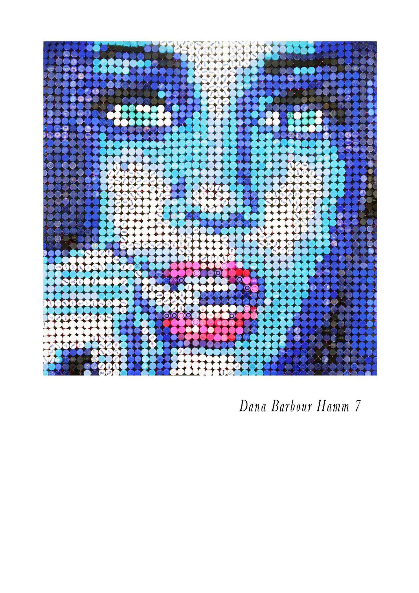 "MIXED MEDIA JORGE CASTRO GOMEZ "" DANA 7 ""  dimensioni L 145 x H 145 cm."