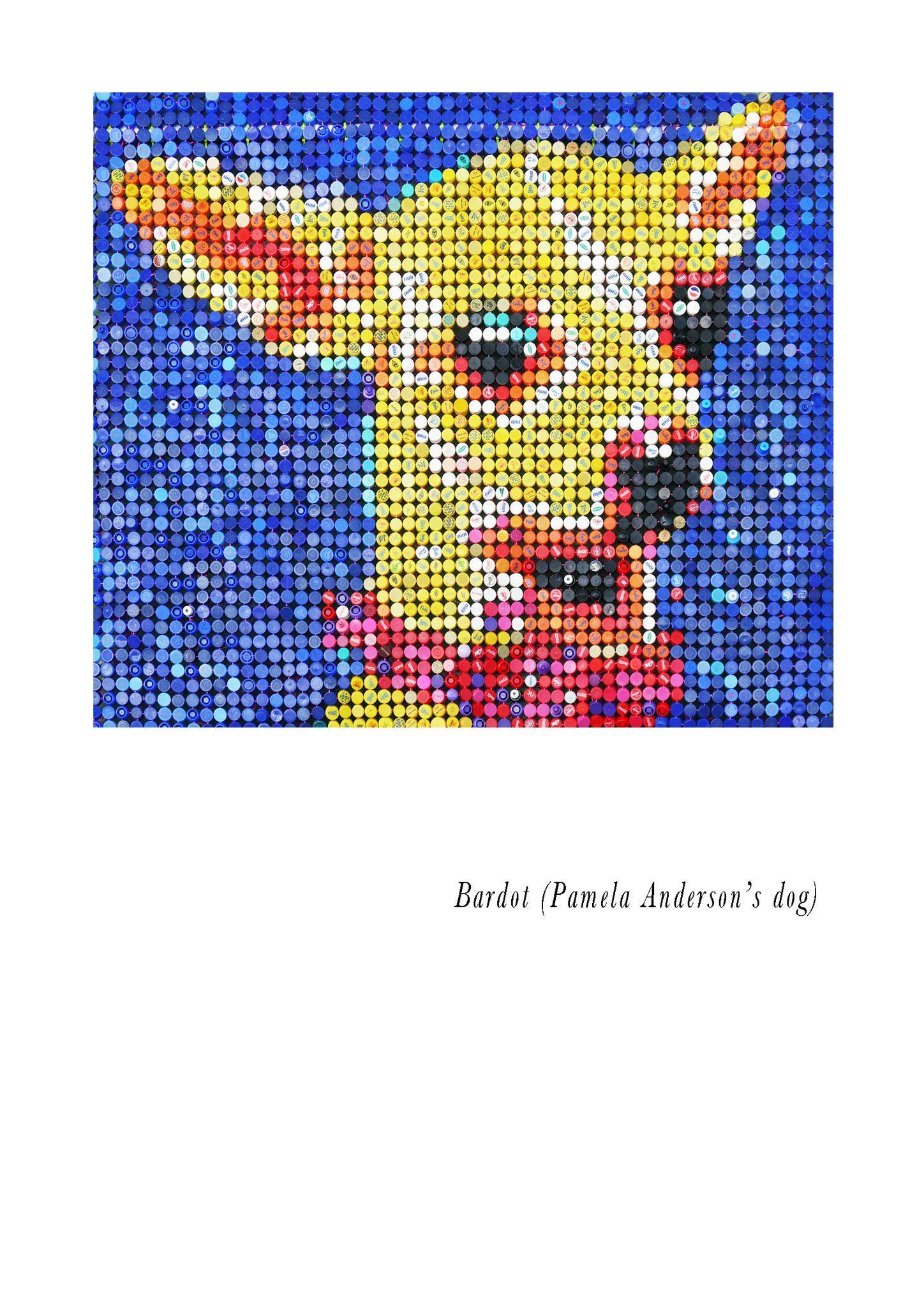 "MIXED MEDIA JORGE CASTRO GOMEZ "" BARDOT ""  dimensioni  L 135 x H 150 cm."