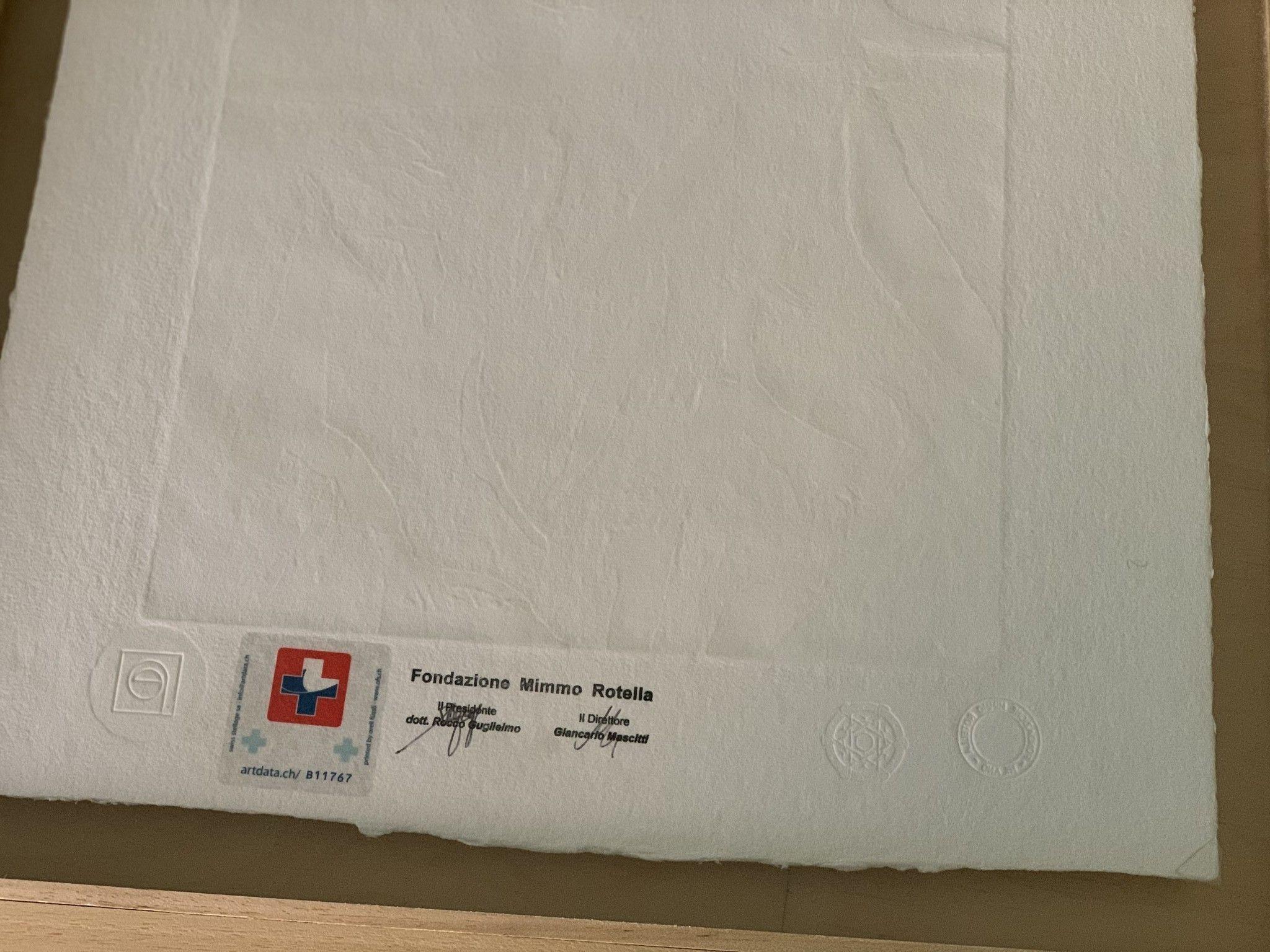 """SERIGRAFIA MIMMO ROTELLA """" MARILYN ROCK """"  dimensioni L 52 x H 62 cm."""
