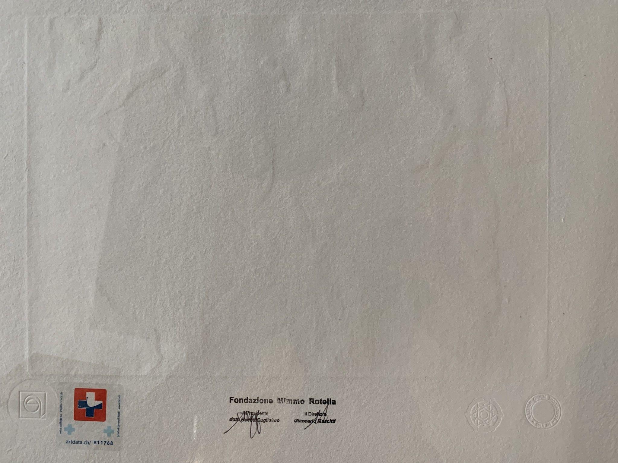 """SERIGRAFIA MIMMO ROTELLA """" NIAGARA """"  dimensioni L 52  x H 62 cm."""