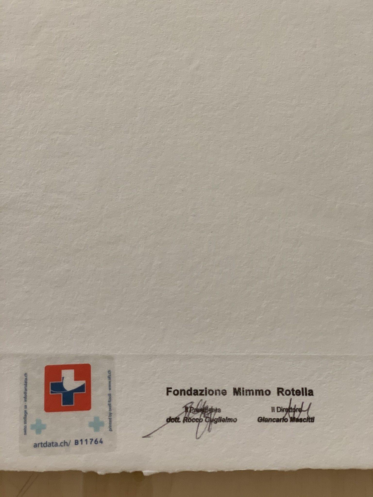 """SERIGRAFIA MIMMO ROTELLA """" UNA DELLE DONNE PIU BELLE """"  dimensioni L 52 x H 62 cm."""