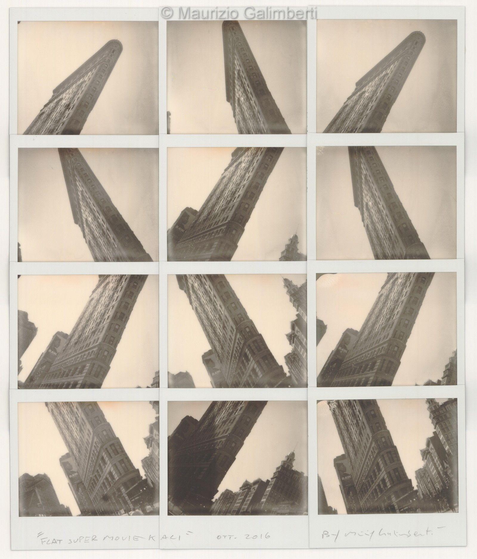 VINTAGE POLAROID MAURIZIO GALIMBERTI 'FLAT SUPER MOVIE KALI' dimensioni cm. 53x59