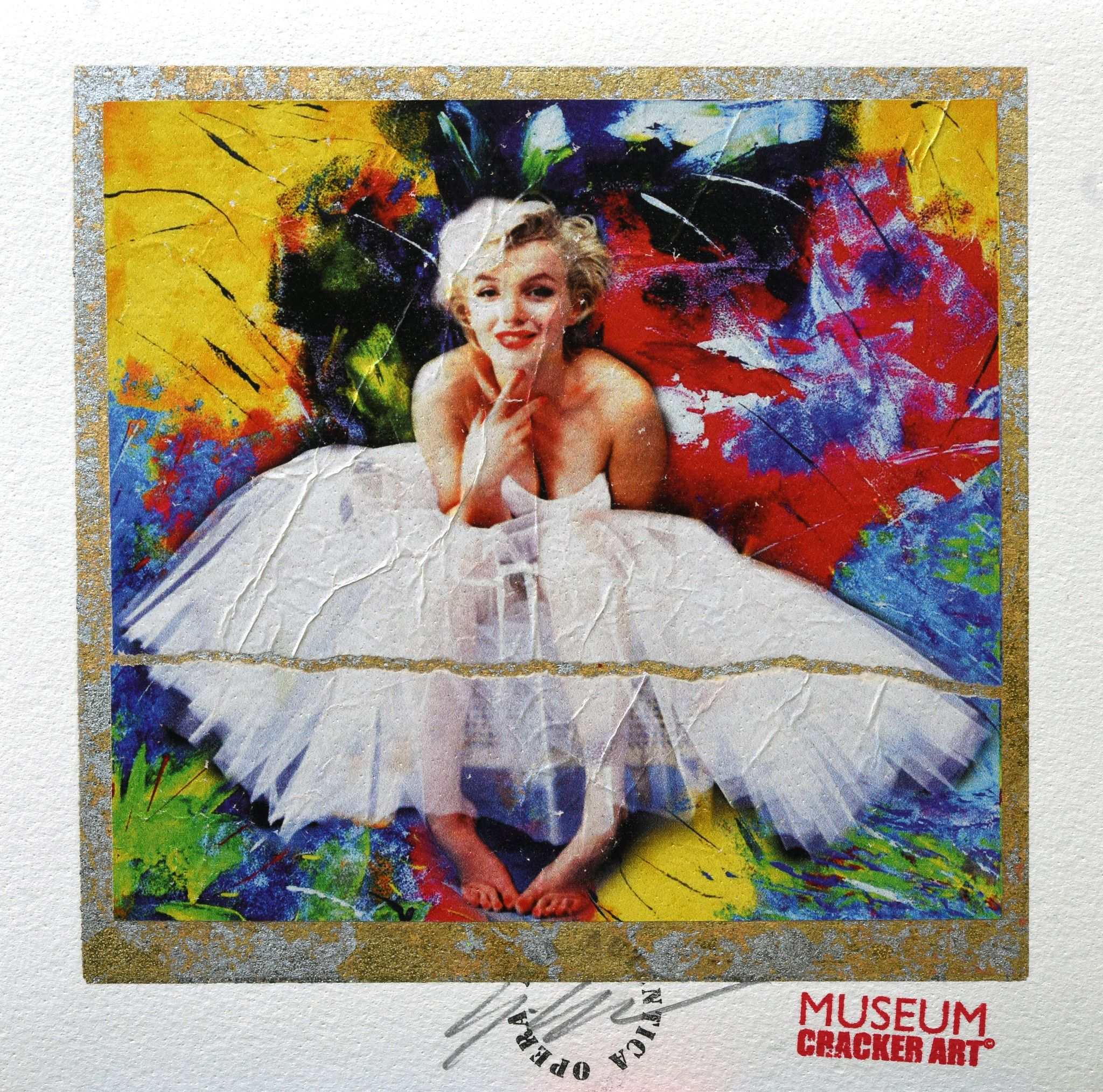 GRAFICA GIULIANO GRITTINI ' MARILYN 2 '  dimensioni L 23 x H 23 cm.