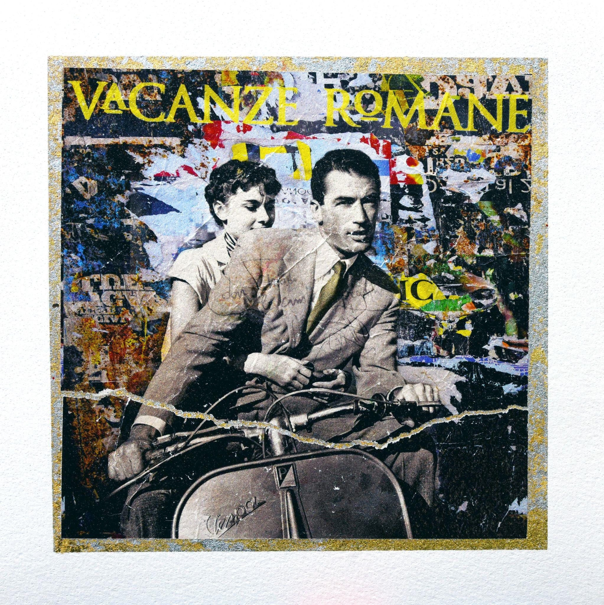 GRAFICA GIULIANO GRITTINI ' VACANZE ROMANE '  dimensioni L 23 x H 23 cm.