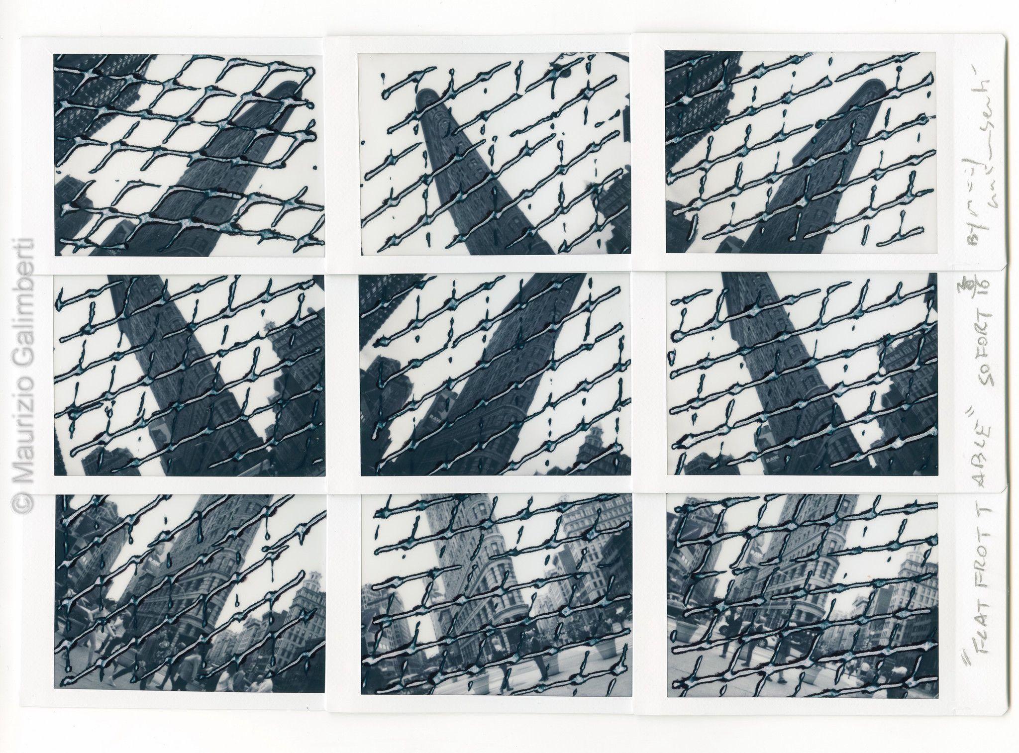 "VINTAGE POLAROID MAURIZIO GALIMBERTI ""FLAT FROTTABLE"" dimensioni cm. 46x39"