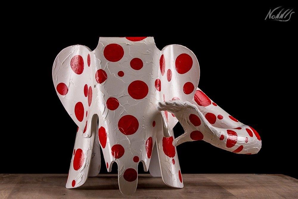 PROMOZIONE #artistadelmese SCULTURA FRANCO NONNIS ' WATER ELEPHANT '  dimensioni L 78 x H 50 x P 41 cm.