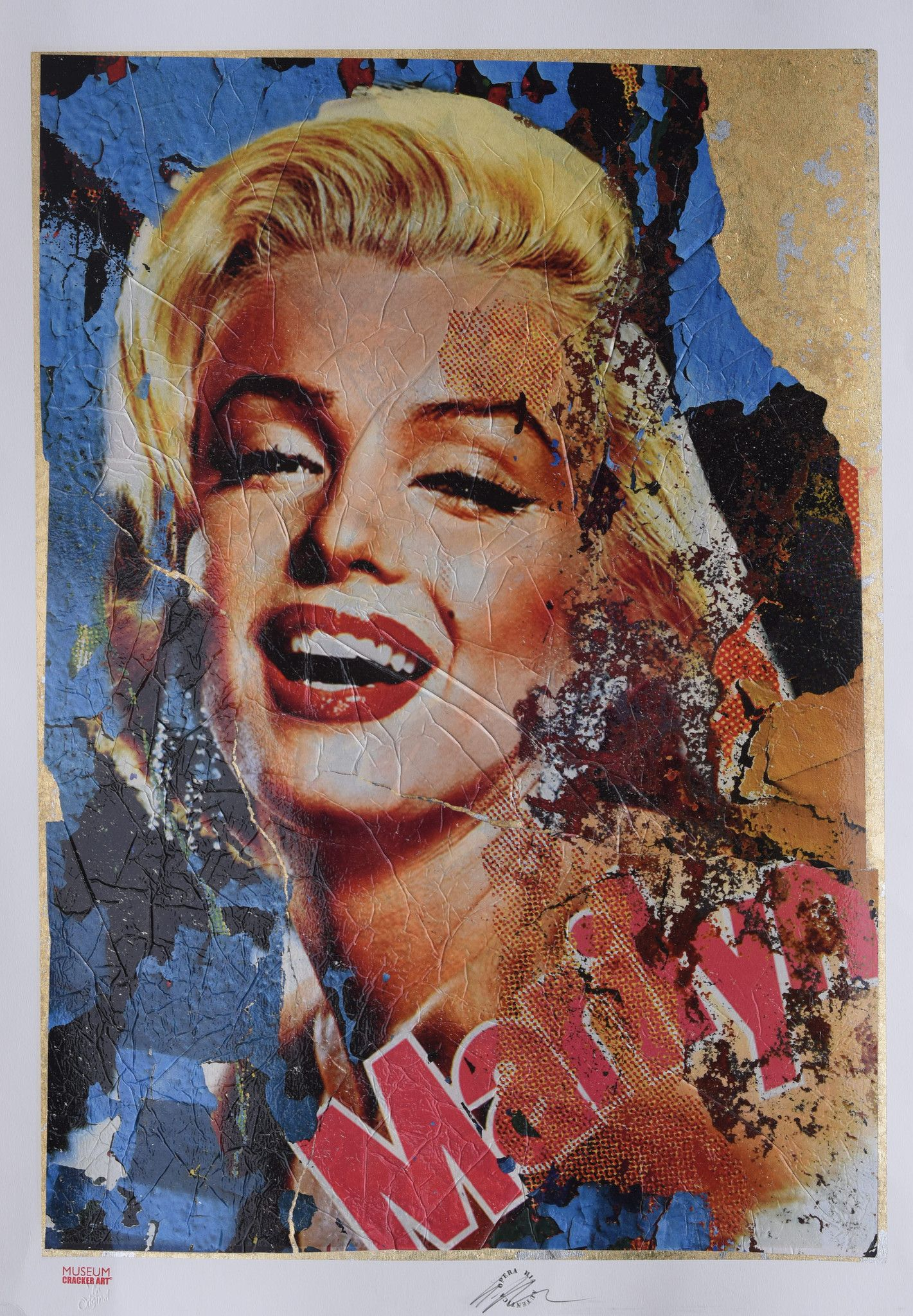 GRAFICA GIULIANO GRITTINI ' MARILYN 5 '  dimensioni L 70 x H 100 cm.