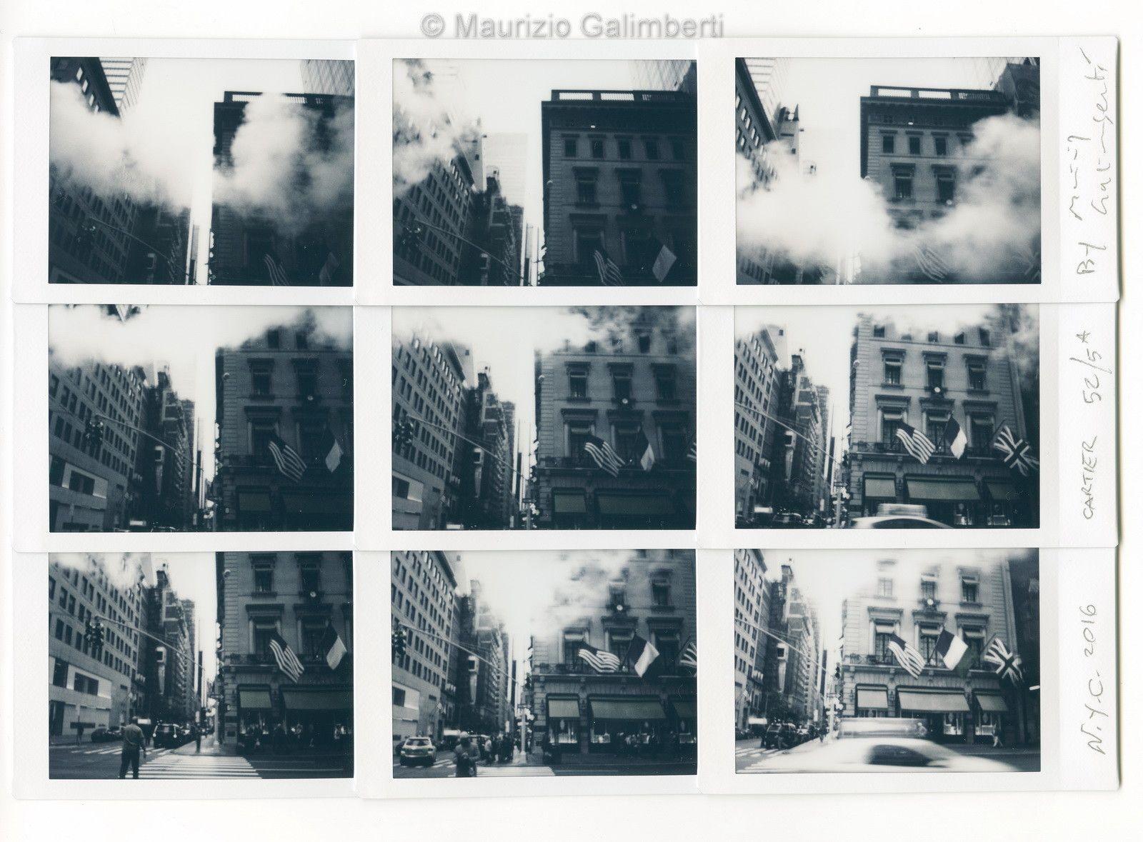 "VINTAGE POLAROID MAURIZIO GALIMBERTI ""N.Y.C. CARTIER"" dimensioni cm. 46x39"