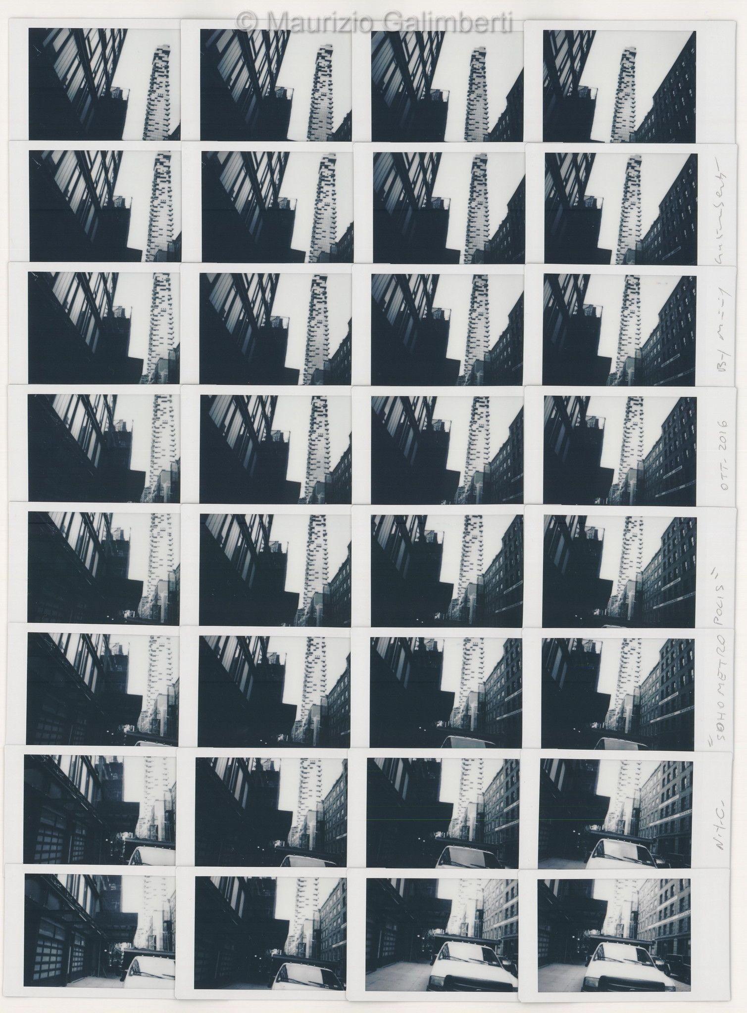 """VINTAGE POLAROID MAURIZIO GALIMBERTI """"N.C.Y. SOHO METROPOLIS"""" dimensioni cm. 53x63"""