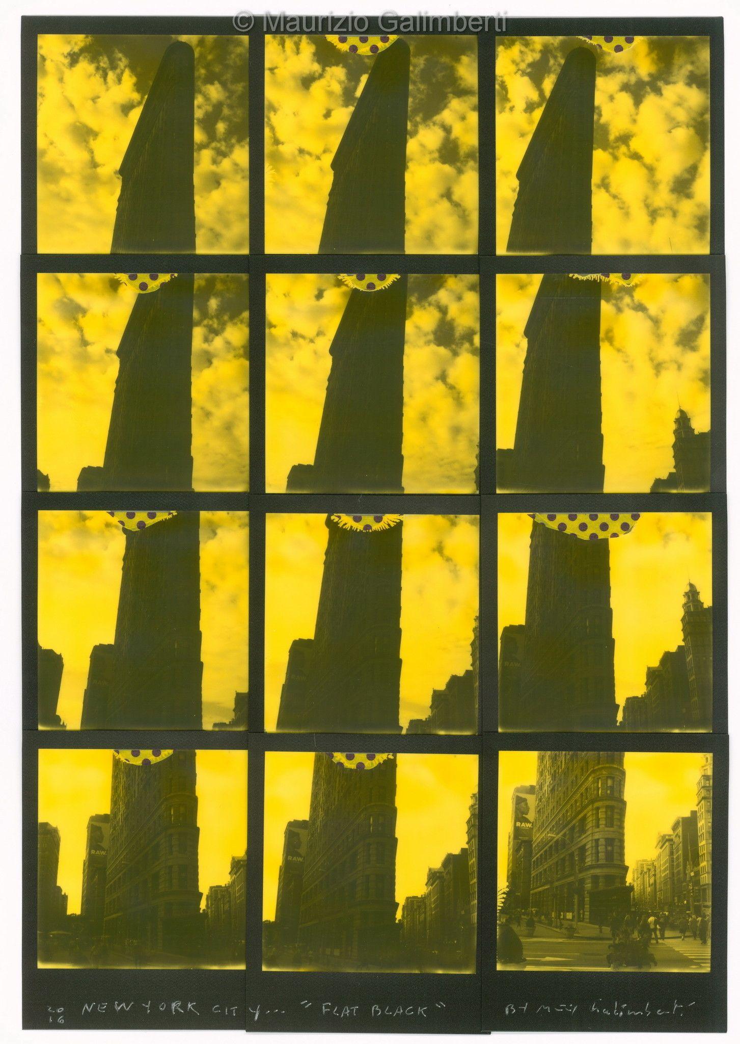 "VINTAGE POLAROID MAURIZIO GALIMBERTI ""NEW YORK CITY FLAT BLACK"" dimensioni cm. 49x60"