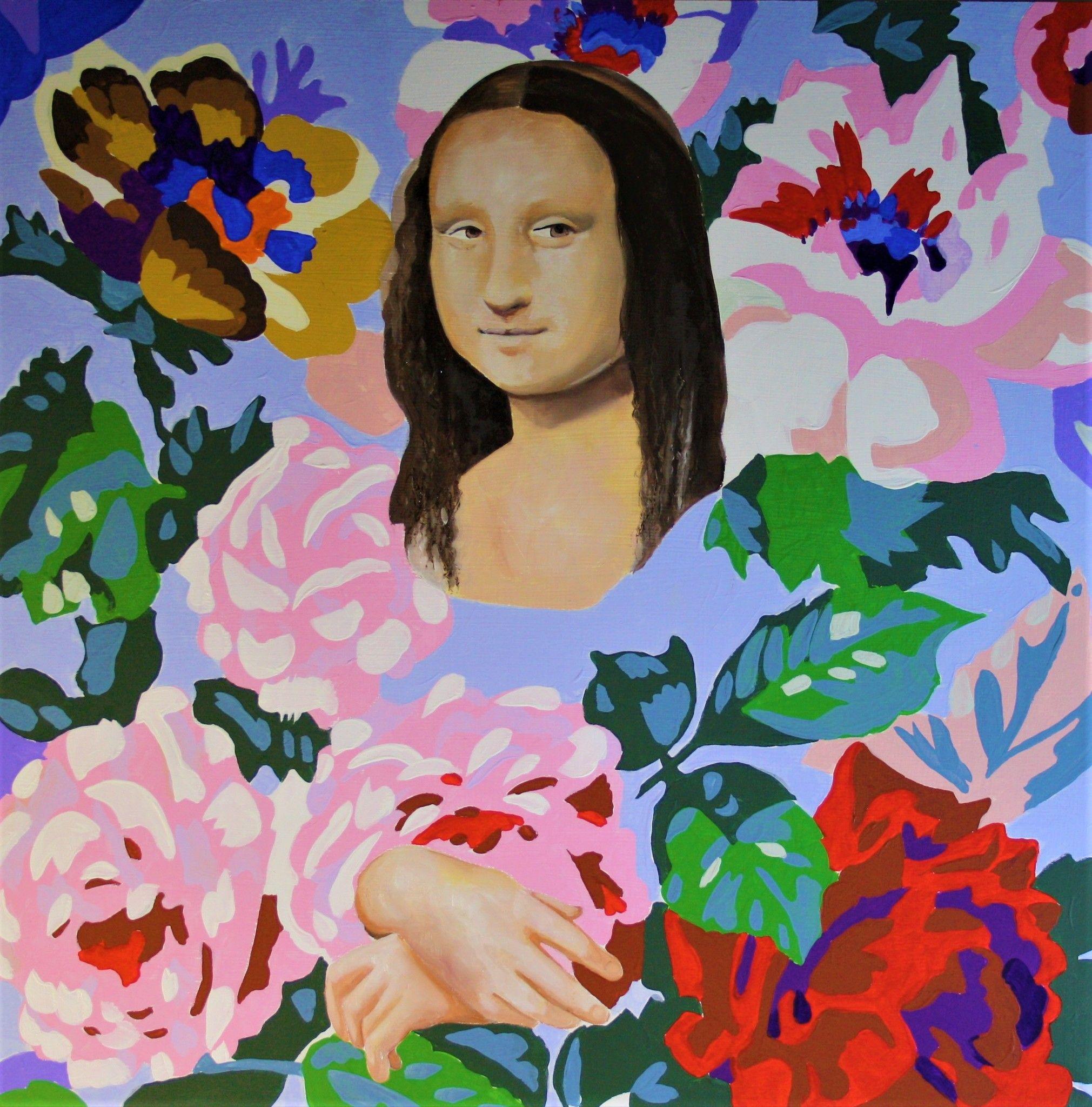 PROMOZIONE #artistadelmese MIXED MEDIA MASSIMO PENNACCHINI ' MONNALISA '  dimensioni L 50 x H 50  cm.