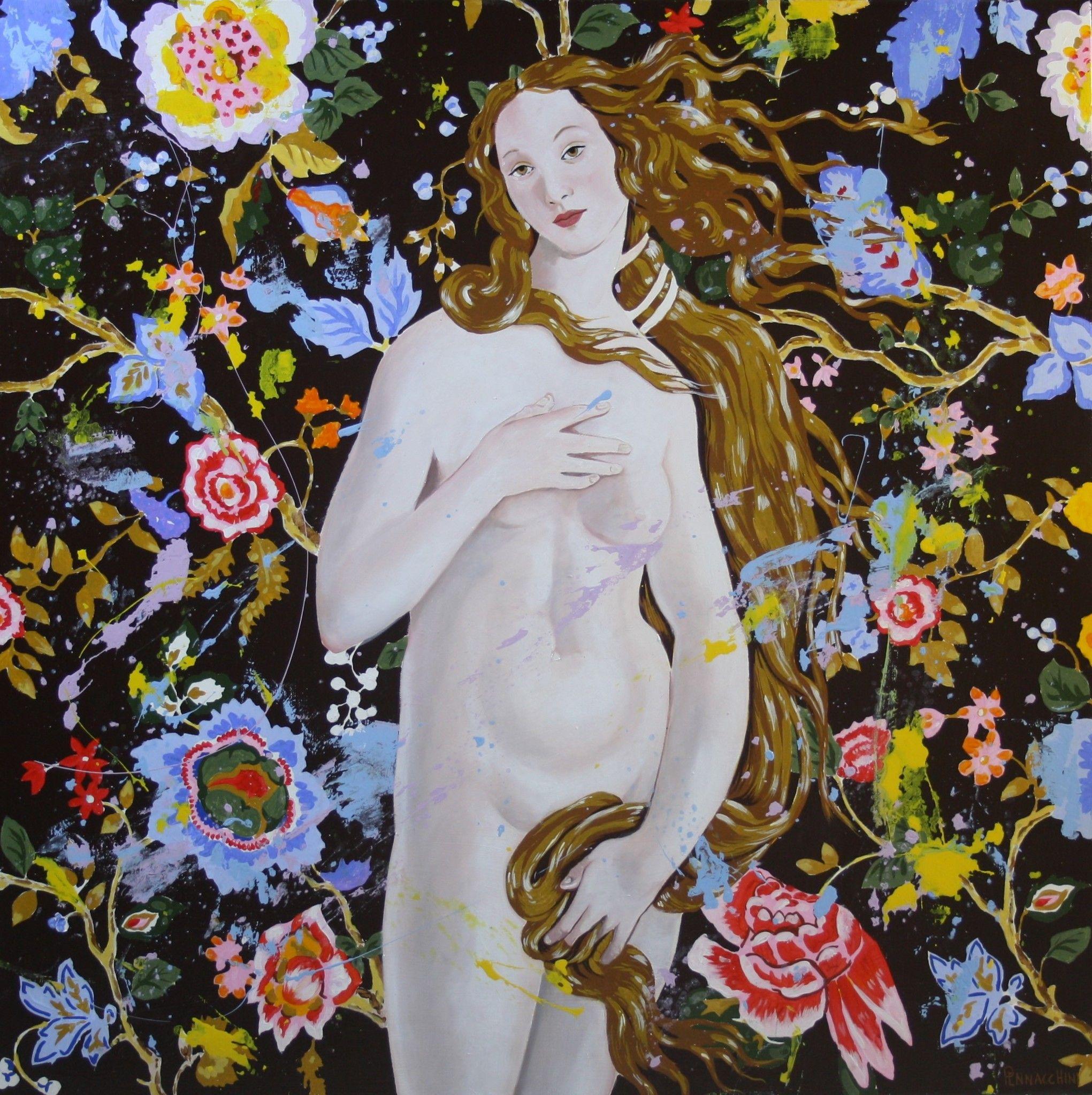 MIXED MEDIA MASSIMO PENNACCHINI ' VENERE 1 '  dimensioni L 80 x H 80 cm.
