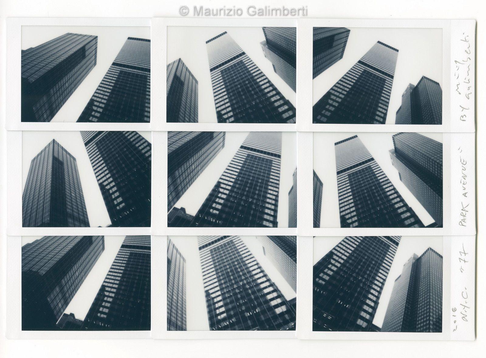 "VINTAGE POLAROID MAURIZIO GALIMBERTI ""PARK AVENUE"" dimensioni cm. 46x39"