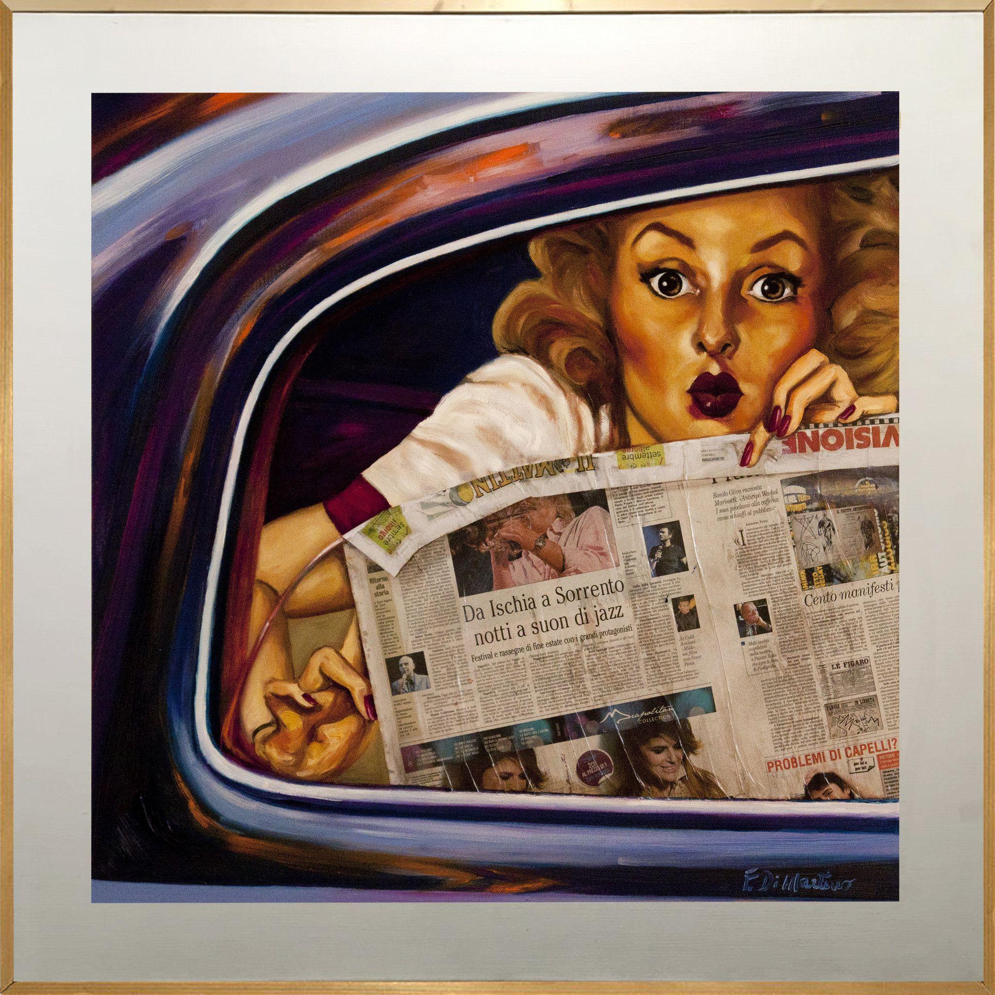 PROMOZIONE #artistadelmese MIXED MEDIA FRANCESCA DI MARTINO ' PIN UP '  dimensioni L 100 x H 100 cm.