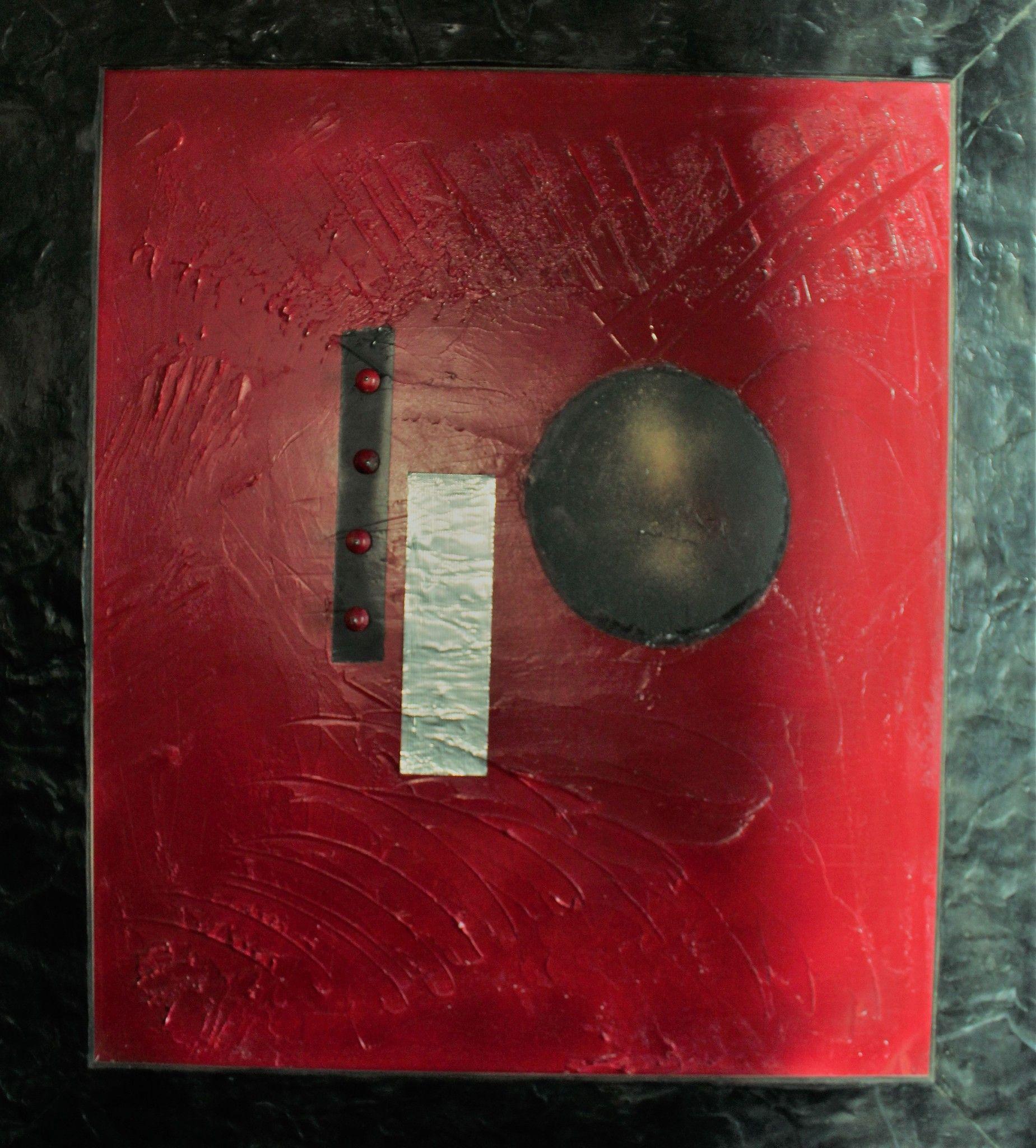 """MIXED MEDIA VENCESLAO MASCIA """" UNTITLED 2 """"  dimensioni L 75 x 66 cm."""