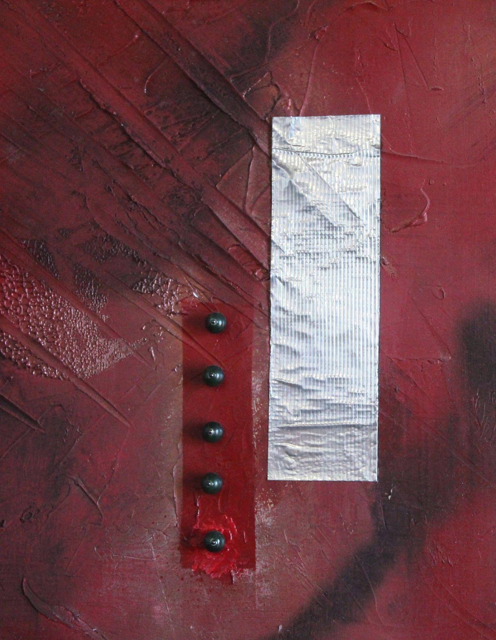 "MIXED MEDIA VENCESLAO MASCIA "" UNTITLED 4 ""  dimensioni L 74 x H 66 cm."