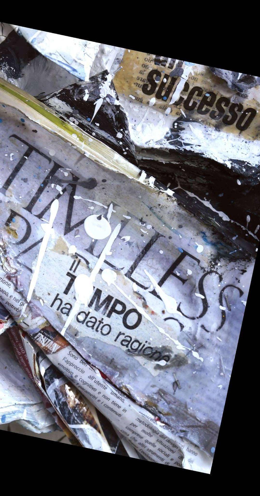 """MIXED MEDIA PAOLO FRANZOSO """" ORA IO SONO """"  dimensioni L 140 x H 140 cm."""